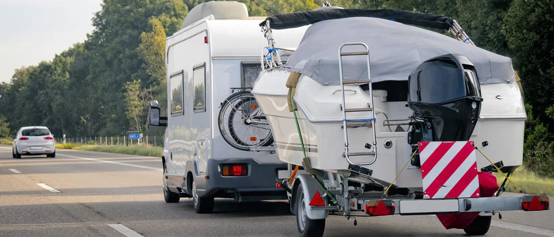 Amortisseurs renforcés pour camping-car avec remorque